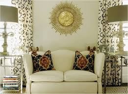 chic living room design with ivory walls paint color gold