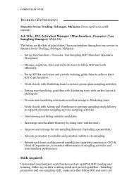 Merchandiser Job Description Resume by Julie Gan Yoke Kee Resume