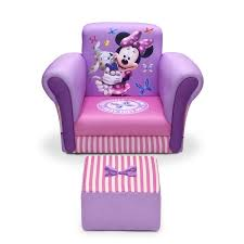 delta children minnie mouse upholstered kids club chair and