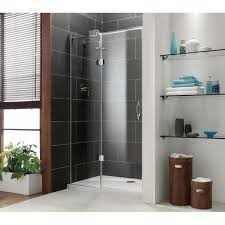 1200mm Shower Door Frameless Hinged Door 1200mm Left Plain Glass Chrome