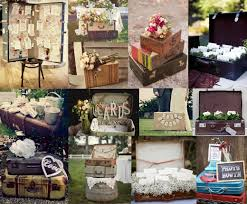 modern vintage wedding decorations with rustic vintage backyard