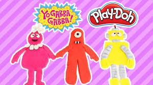 diy yo gabba gabba characters play doh