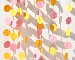 Pink And Yellow Birthday Decorations Pink And Yellow U0027s Birthday Party Decoration Paper