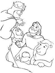 daniel lions den coloring daniel lions den