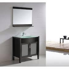 bathroom vanity espresso solid wood glass top wh 0908 6