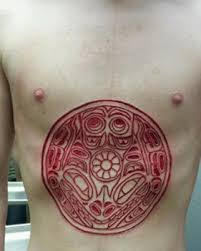 weirdest tattoos skin cutting scaring burning and etching daily