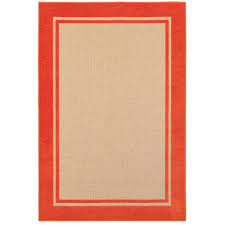 Outdoor Area Rugs Home Depot Home Decorators Collection Bondi Tangerine 7 Ft 10 In X 10 Ft