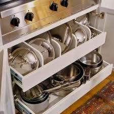 Kitchen Cabinet Pot Organizer 186 Best Pot U0026 Pan Storage Images On Pinterest Home Kitchen And