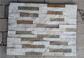 Stacked Stone Veneer Backsplash by White And Rusty Wall Stone Cladding Corner Prices Cultured Stone