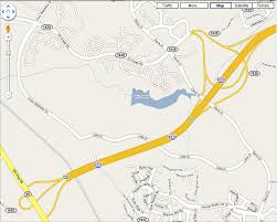 Cary Map Google Map Has 540 West With Wrong Exit Names County Place