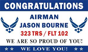 congratulations graduation banner 3ftx5ft personalized congratulations airman u s us air