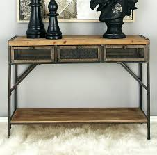 wood and metal console table with drawers wood and metal console table yuinoukin com
