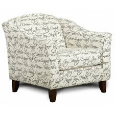 Ivory Accent Chair Fusion Furniture Accent Chairs 452 Tattler Ivory Stationary From