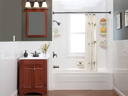 Fiber Bathtub Small Bathroom With Ceramic Back Splash And White Fiber Bathtub