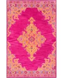 Pink Area Rug 5x8 Deal On Tufted Wool Medallion Area Rug Pink 5 X8