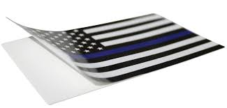 Black And Blue Flag X Large Thin Blue Line Decal Finelineflag