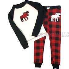 pajamas size 10 plaid pajamas moose pajamas