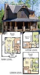 plan 18733ck wrap around porch house cabin and future architectural designs rugged house plan gives you over sq of living on 3 levels could even forget about lower level and do as 3 bedroom cabin