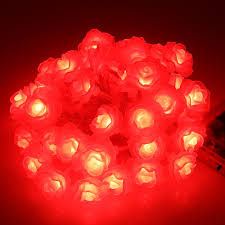 Red Heart Fairy Lights by Aliexpress Com Buy Battery Operated Rose Shaped Led Starry