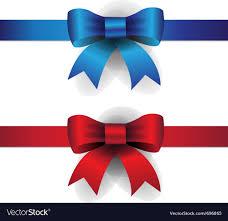 ribbon bows blue ribbon bows royalty free vector image