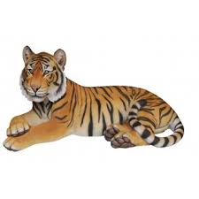 real tiger large resin ornament by arts ornaments