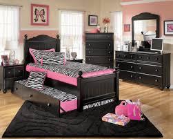 bedroom zebra girls room decor with black wood headboard bed