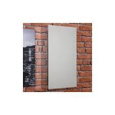 vasari single door stainless steel mirror cabinet