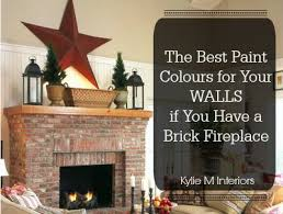 accent wall color with red brick fireplace best fireplace 2017