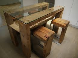 reclaimed wood dining table glass top salvaged wood kitchen