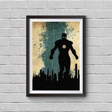 avengers home decor iron man vintage poster marvel movie print avengers poster artwork
