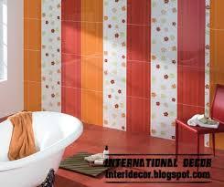 contemporary bathroom tiles design ideas this is latest orange wall tile designs ideas for modern bathroom