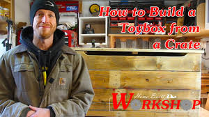 how to build a toybox from a crate youtube