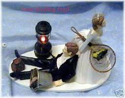 it came from the e bay fishing wedding cake topper coleman