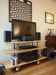 Simple Tv Stands Diy Tv Stand My Very Own Design And Construction Matches My