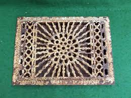 Ceiling Heat Vent Covers by Antique Cast Iron Wall Ceiling Register Heat Grate Sun Burst