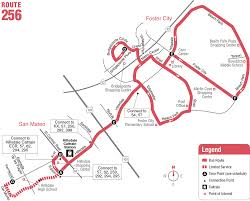 Bus Map Los Angeles by Route 256