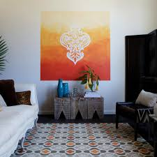 learn how to paint a stenciled ombre wall mural how tos diy show all