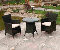 Round Stone Patio Table by Furnitures Cute Two Wicker Patio Furniture Chairs With Round