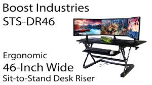 Sit To Stand Desk by Boost Industries Sts Dr46 Ergonomic Sit To Stand 46 Inch Wide Desk