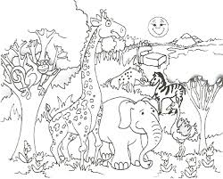 african flag coloring pages african savanna animals coloring pages