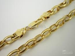 necklace chains wholesale images Wholesale fashion 18k gp men 39 s gold plated bling necklace jpg