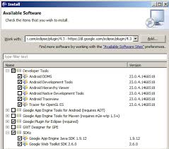 android sdk eclipse installing the android sdk and adt plugin for eclipse