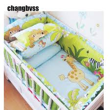 Child Crib Bed Comfortable Baby Bed Set Animal Baby Bedding Stripes Breathable