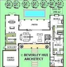 u shaped house plans with pool in middle house plans with pools house plan with indoor pool modern house