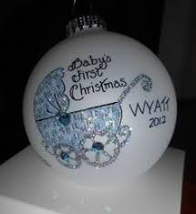 personalized baby u0027s first christmas ornament 35 ceramic