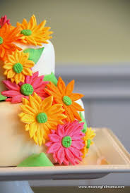 spring flower birthday cake