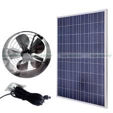 high flow exhaust fan eco worthy 3000 cfm vent fan kits 100w solar panel 65w