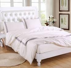 400thread count bedding set duvet cover set cream with grey