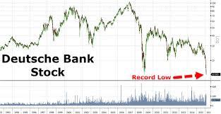 deuts che bank deutsche bank stock crashes to record low zero hedge