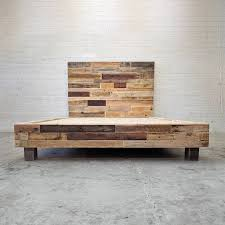 reclaimed wood headboard king reclaimed wood platform bed base natural twin full queen king